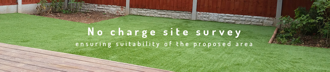no charge artificial grass strip