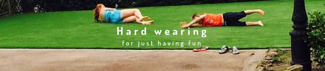 hardwearing artificial lawns